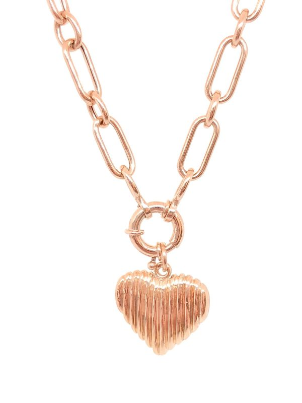 Sailor Hook Drawn Chain camber nheart necklace