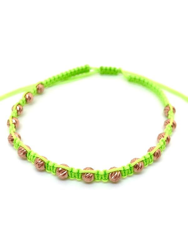 Neon green Braided Anklet