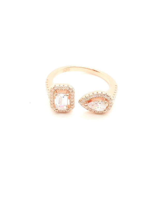 double stone ring